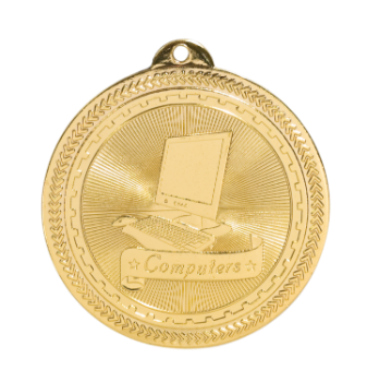 "6S4707 COMPUTERS BRITELAZER MEDAL (Medal: 2"" Gold)"
