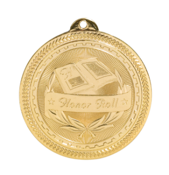 "6S4712 HONOR ROLL BRITELAZER MEDAL (Medal: 2"" Gold)"