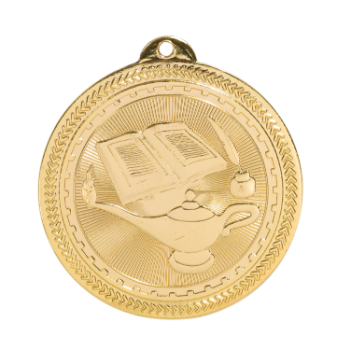 "6S4713 LAMP OF KNOWLEDGE BRITELAZER MEDAL (Medal: 2"" Gold)"