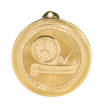 "6S4718 PERFECT ATTENDANCE (Medal: 2"" Gold)"