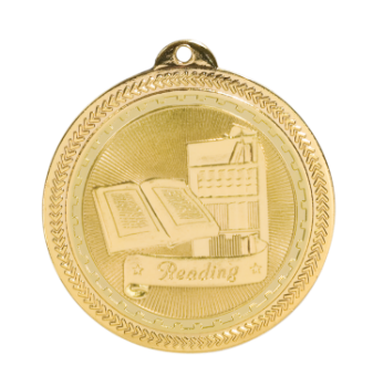 "6S4719 READING BRITELAZER MEDAL (Medal: 2"" Gold)"