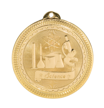 "6S4721 SCIENCE BRITELAZER MEDAL (Medal: 2"" Gold)"