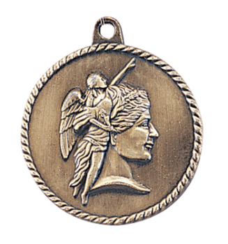 "6S5501 ACHIEVEMENT HIGH RELIEF MEDAL (Medal: 2"" Antique Gold)"