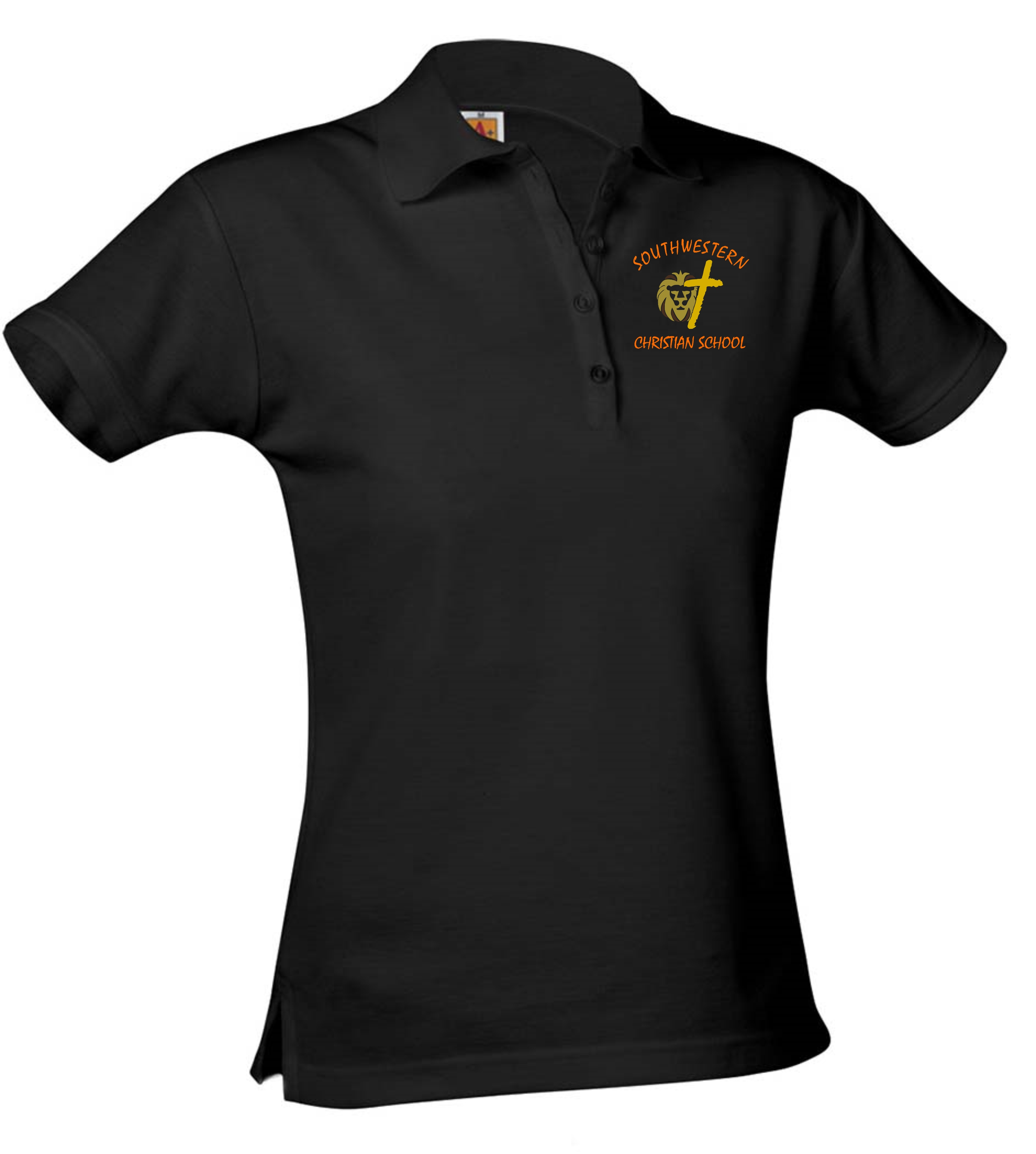 A+ Girl's Pique Polos - SWCS (Polo Color: Black, Polo Size: XS - 4/5)