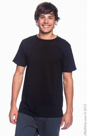 Men's Fashion Fit Ringspun T Shirt 980 (Color: Black, Size: Small)