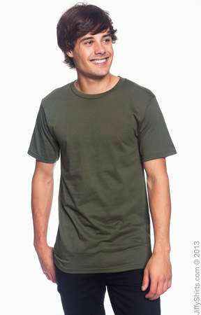 Men's Fashion Fit Ringspun T Shirt 980 (Color: City Green, Size: Small)