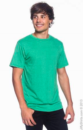 Men's Fashion Fit Ringspun T Shirt 980 (Color: Heather Green, Size: Large)