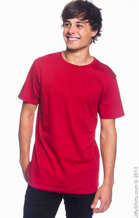 Men's Fashion Fit Ringspun T Shirt 980 (Color: Independence Red, Size: Small)