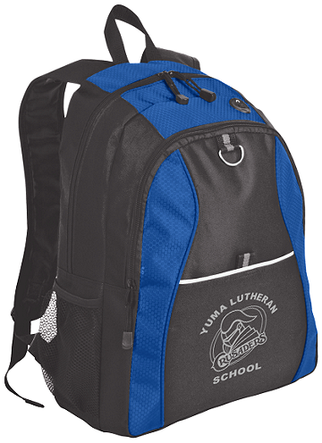 Port Authority® Contrast Honeycomb Backpack (Backpack Colors: Twilight Blue/Black)