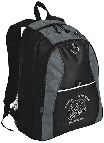 Port Authority® Contrast Honeycomb Backpack (Backpack Colors: Grey/Black)