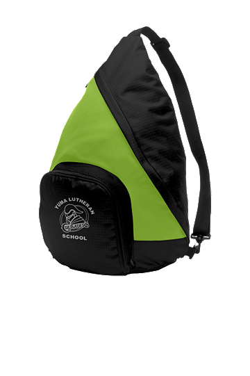 Port Authority® Active Sling Pack - School Logo and Student Name (Color: Shock Lime/Black)