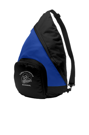 Port Authority® Active Sling Pack - School Logo and Student Name (Color: True Royal/Black)