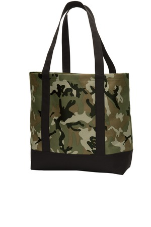 Classic Go-Anywhere Tote by Port Authority. BG406. (Color: Military Camo Black)