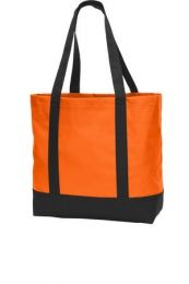 Classic Go-Anywhere Tote by Port Authority. BG406. (Color: Neon Orange Black)