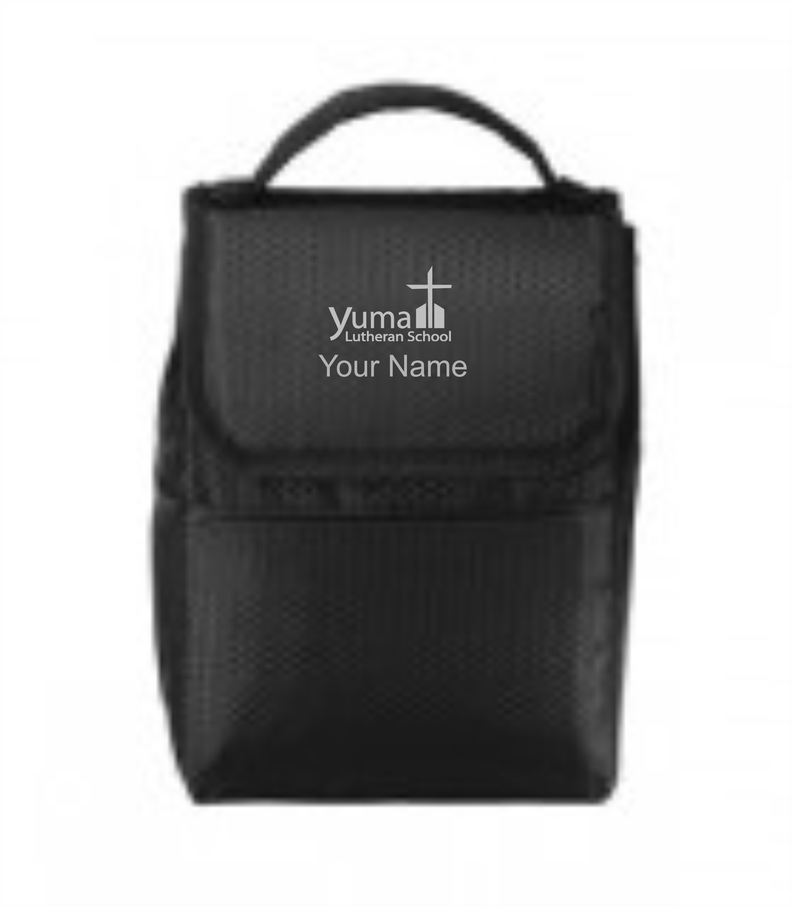 Port Authority® Lunch Bag Cooler - YLS (Lunch Bag Colors: Black/ Black - YLS)