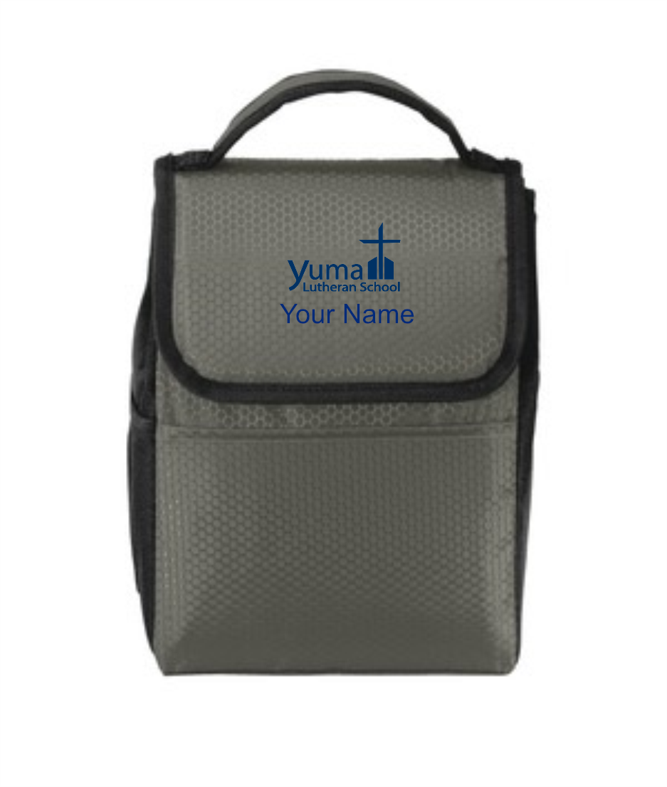 Port Authority® Lunch Bag Cooler - YLS (Lunch Bag Colors: Grey/ Black - YLS)