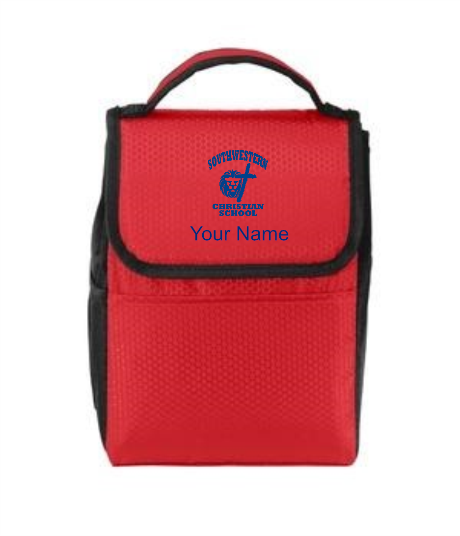 Port Authority® Lunch Bag Cooler - SWCS (Lunch Bag Colors: Red/ Black - SWCS)