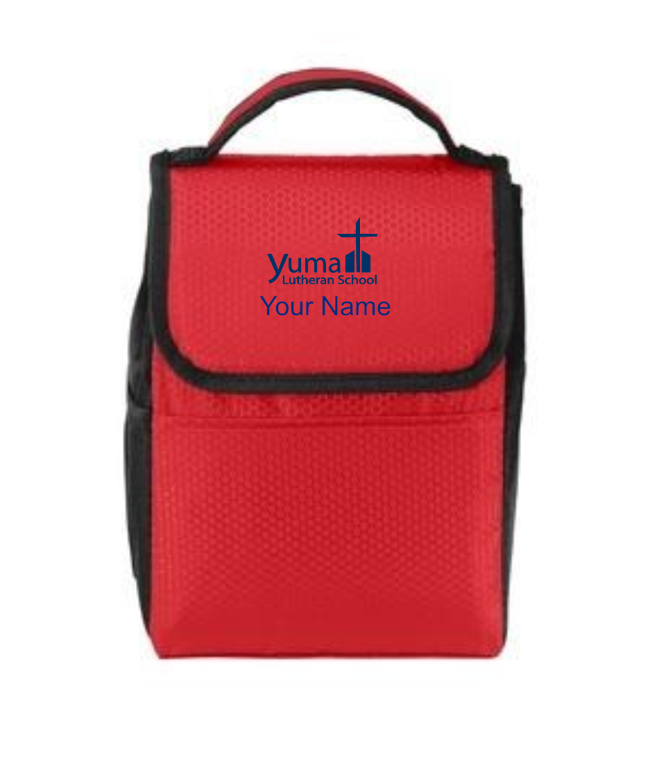 Port Authority® Lunch Bag Cooler - YLS (Lunch Bag Colors: Red/ Black - YLS)