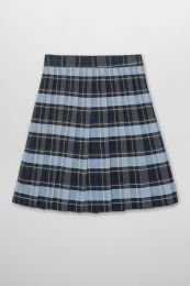 French Toast Front Pleated Skirt (Color: Skirt Plaid, Blue/Gold - SWCS, Size: Skirt Size 5)