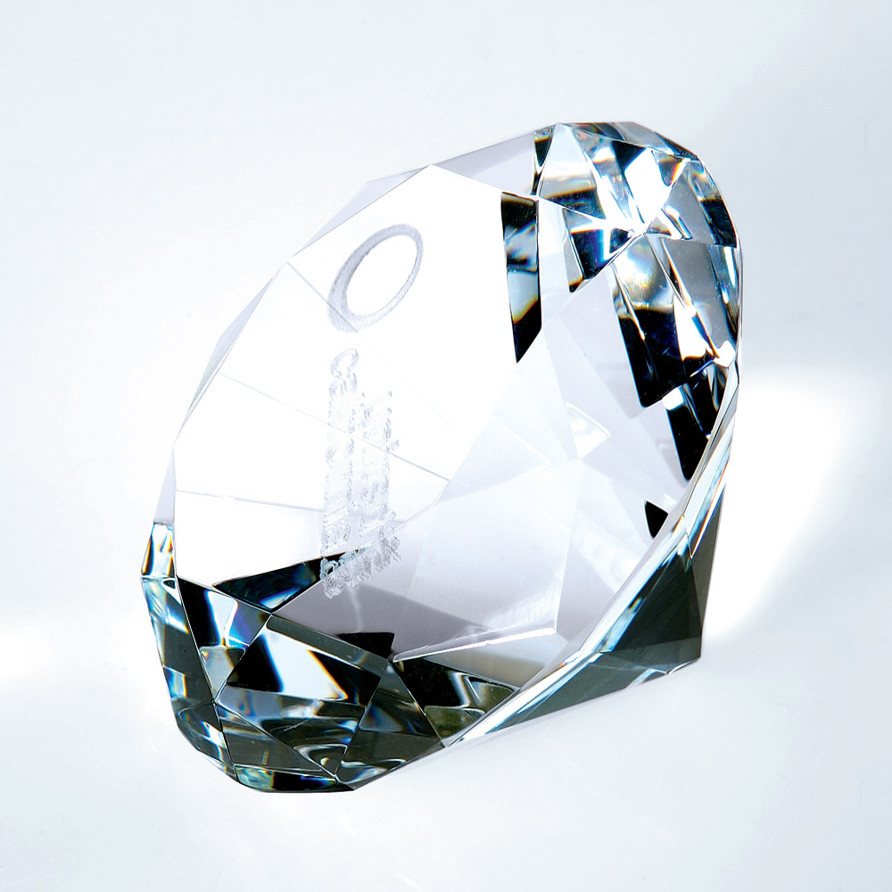 Diamond Crystal Paperweight (Gift: 3 1/8 x 2 1/4 Diamond Paperweight)