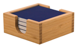 "Premier Ceramic Coaster Set - Square (Coaster: 4"" x 4"" Ceramic, Blue)"