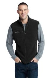 Men's Fleece Vest by Eddie Bauer EB204. (Color: Black, Size: Large)