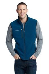 Men's Fleece Vest by Eddie Bauer EB204. (Color: Deep Sea Blue, Size: Large)