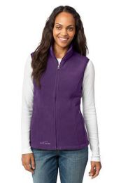 Ladies Fleece Vest by Eddie Bauer EB205. (Color: Blackberry, Size: Large)