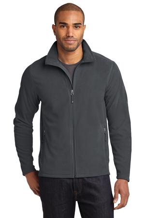 Men's Full-Zip Microfleece Jacket by Eddie Bauer. EB224. (Color: Grey Steel, Size: Large)