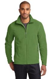 Men's Full-Zip Microfleece Jacket by Eddie Bauer. EB224. (Color: Irish Green, Size: XL)