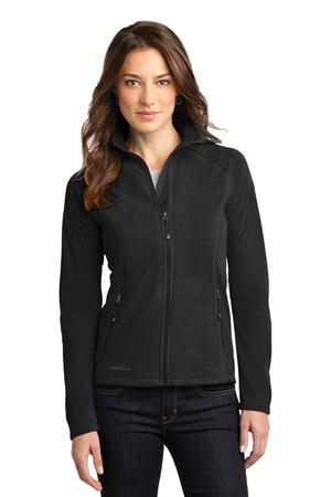 Ladies Full-Zip Microfleece Jacket by Eddie Bauer. EB225. (Color: Black, Size: XL)