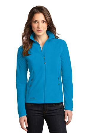 Ladies Full-Zip Microfleece Jacket by Eddie Bauer. EB225. (Color: Peak Blue, Size: Large)