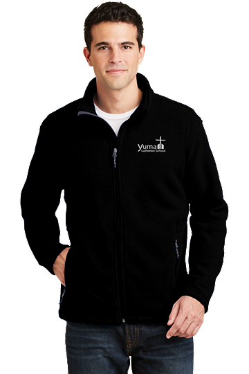 Port Authority® Men's Value Fleece Jacket - YLS (Jacket Size: XS Size 32-34, School Colors: Black)