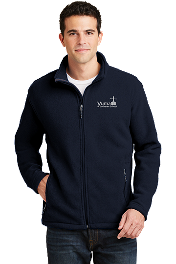Port Authority® Men's Value Fleece Jacket - YLS (Jacket Size: XS Size 32-34, School Colors: Navy)