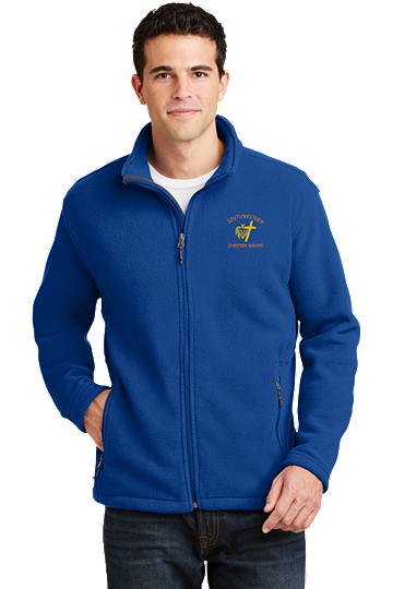 Port Authority® Men's Value Fleece Jacket - SWCS (Jacket Size: XS Size 32-34, School Colors: Royal Blue)