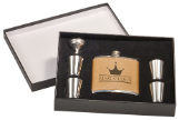 Flask Set, Presentation Box (Flask Set Color Options: Leather Bond)