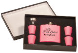 Flask Set, Presentation Box (Flask Set Color Options: Matte Pink)