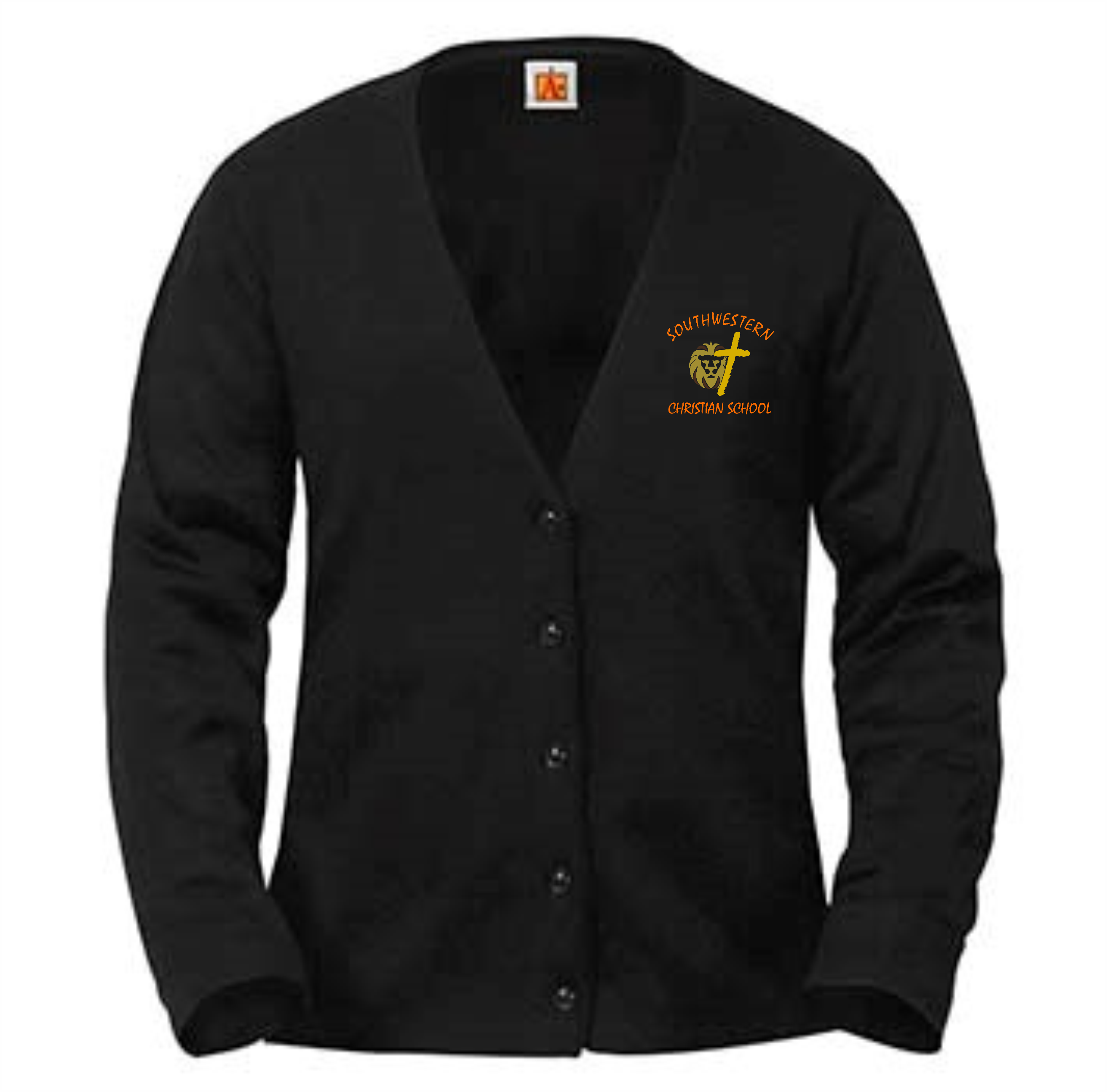 A+ Girl's Cardigan - SWCS (Color: Black, Size: YXS - Size 4/5)