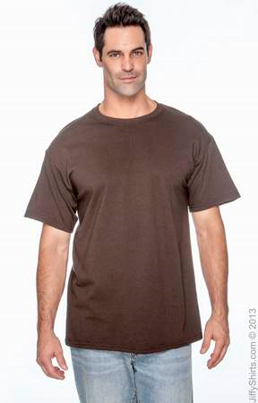 Adult Unisex Heavy Cotton Activewear 5.3 oz. T Shirt G500. (Color: Dark Chocolate, Size: XL)