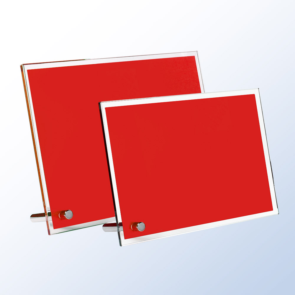 1PSM Red Chroma Plaque (Plaque: SM 5 x 7 Glass, Red)