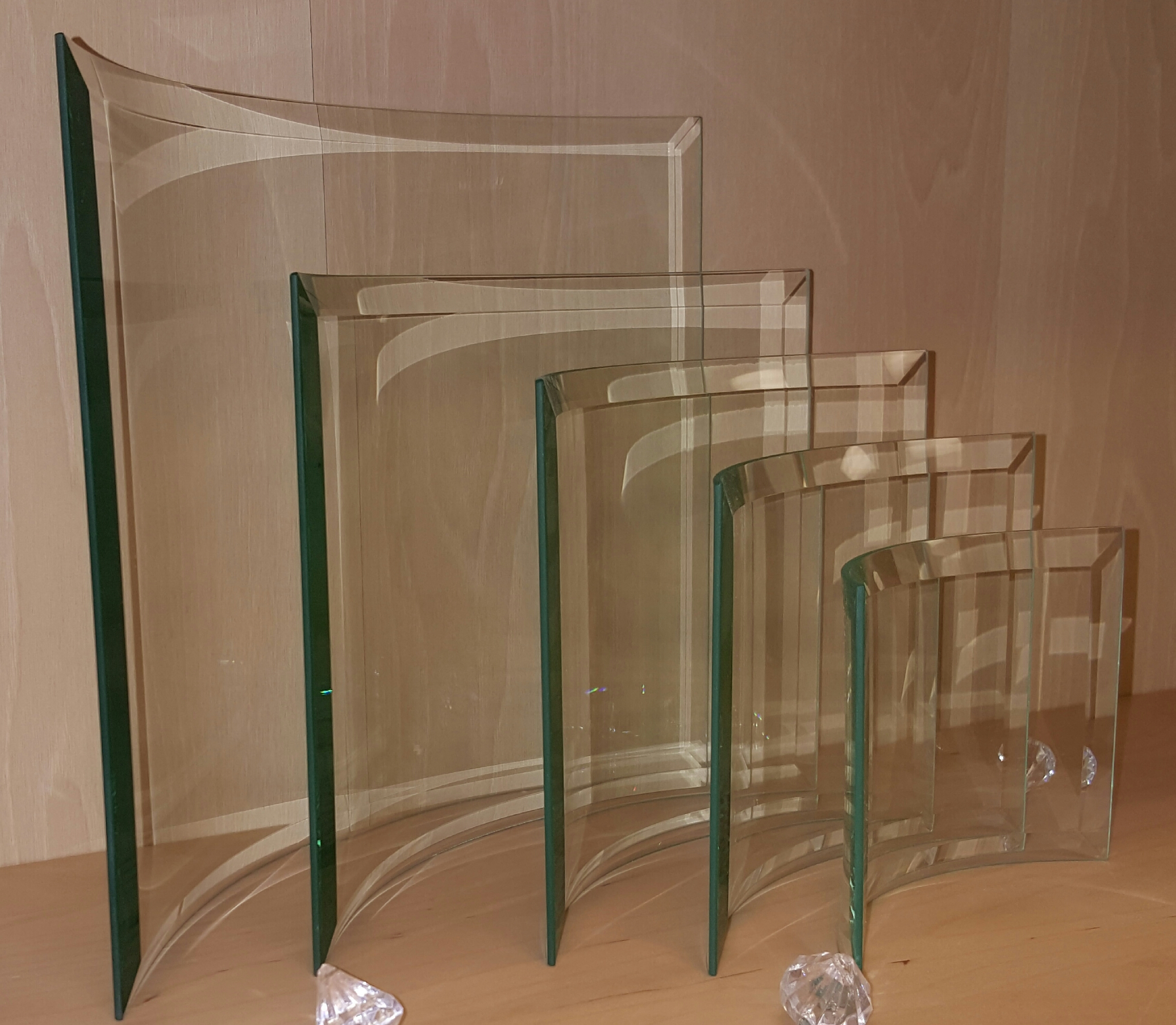 Beveled Bent Jade Glass Plaque (Plaque: XSM 4 x 6 Beveled Bent Glass)