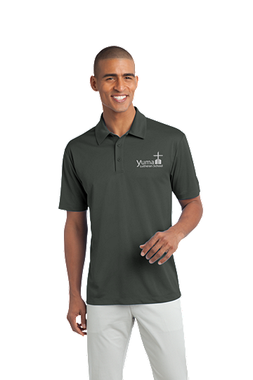 Port Authority® Silk Touch™ Men's Performance Polo - YLS (Performance Polo Color: Grey, Polo Size: XS 32-34)