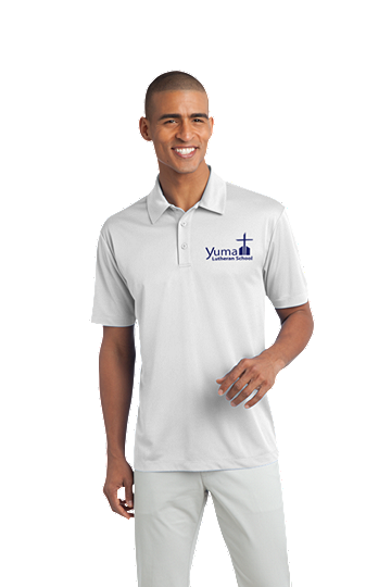 Port Authority® Silk Touch™ Men's Performance Polo - YLS (Performance Polo Color: White, Polo Size: XS 32-34)