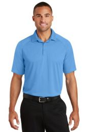 Men's Personalized Crossover Raglan Polo by Port Authority. K575 (Color: Azure Blue, Size: Large)