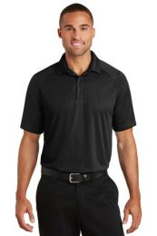 Men's Personalized Crossover Raglan Polo by Port Authority. K575 (Color: Black, Size: Large)