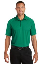 Men's Personalized Crossover Raglan Polo by Port Authority. K575 (Color: Jewel Green, Size: Large)