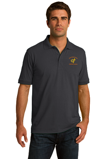 Port & Company® Adult Core Blend Jersey Knit Polo - SWCS (Polo Size: XS 32-34, School Colors: Grey)