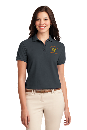 Port Authority® Ladies Silk Touch™ Polo - SWCS Staff and Parents (Color: Graphite Grey, Size: XS - Size 2)