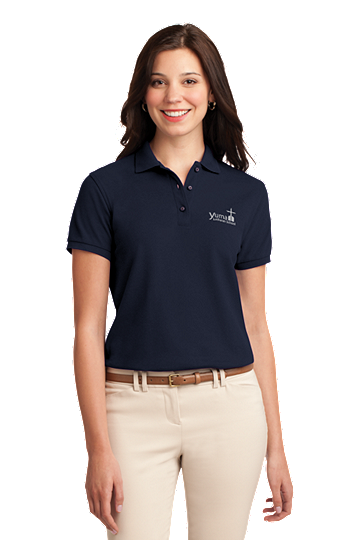 Port Authority® Ladies Silk Touch™ Polo - YLS Student, Staff and Parent (Polo Size: XS - 2, School Colors: Navy)
