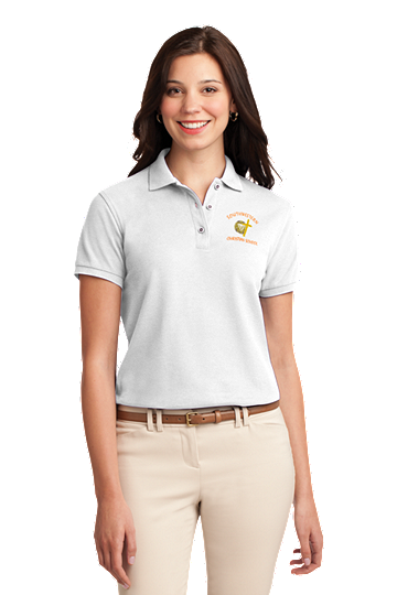 Port Authority® Ladies Silk Touch™ Polo - SWCS Staff and Parents (Color: White, Size: XS - Size 2)